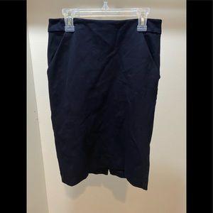 Navy pencil skirt